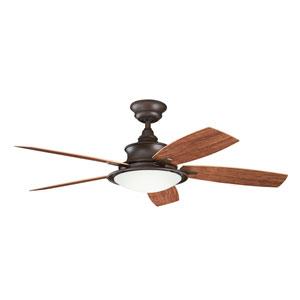 Cameron Tannery Bronze Powder Coat 52 Inch Ceiling Fan