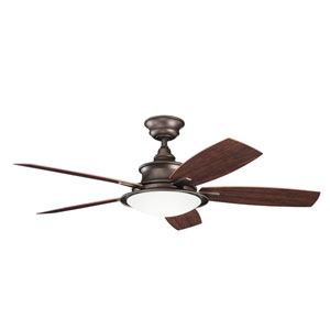 Cameron Weathered Copper Powder Coat 52 Inch Ceiling Fan