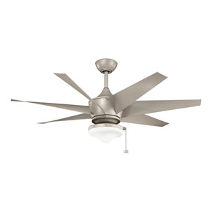 Lehr II Antique Satin Silver Indoor and Outdoor Ceiling Fan