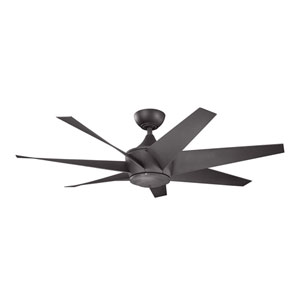 Lehr II Distressed Black Indoor and Outdoor Ceiling Fan