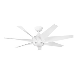 Lehr II White Indoor and Outdoor Ceiling Fan