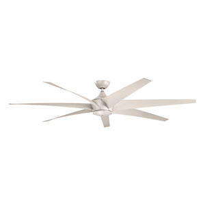 Lehr Antique Satin Silver Indoor and Outdoor Ceiling Fan