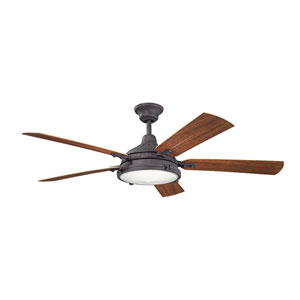 Hatteras Bay Patio Distressed Black 60-Inch Fan