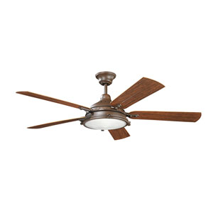 Hatteras Bay Patio Tannery Bronze 60-Inch Fan