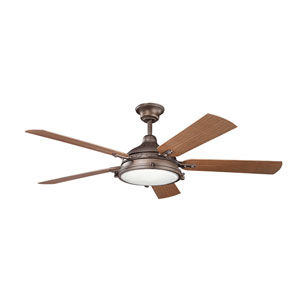 Hatteras Bay Patio Weathered Copper 60-Inch Fan