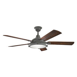 Hatteras Bay Patio Weathered Zinc 60-Inch Fan