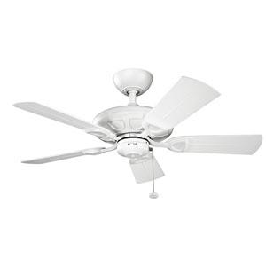 Kevlar Matte White 42-Inch Wet Location Ceiling Fan