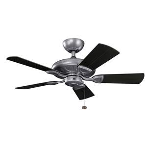 Kevlar Weathered Steel Powder Coat 42-Inch Wet Location Ceiling Fan