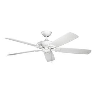Kevlar Matte White 60-Inch Wet Location LED Ceiling Fan