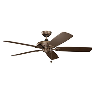 Kevlar Weathered Copper Powder Coat 60-Inch Wet Location LED Ceiling Fan