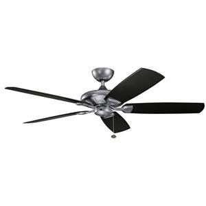Kevlar Weathered Steel Powder Coat 60-Inch Wet Location LED Ceiling Fan