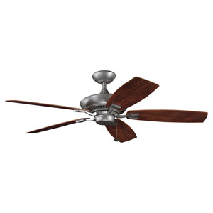 Canfield Energy Star Patio Weathered Steel 52-Inch Fan