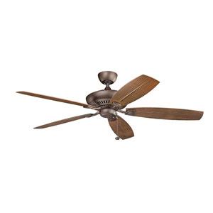 Tulle Patio Weather Copper 60-Inch Fan