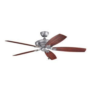 Tulle Patio Weathered Steel 60-Inch Fan