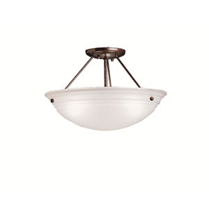 Swiss Passport Tannery Bronze Semi-Flush Ceiling Light