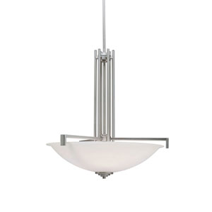 Eileen Brushed Nickel Bowl Pendant