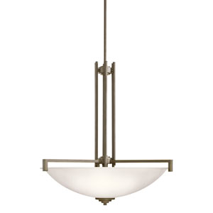 Eileen Olde Bronze LED Four-Light Pendant with Satin Etched Glass