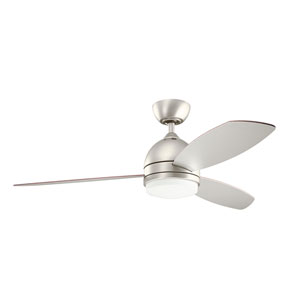 Vassar Brushed Nickel 52-Inch LED Ceiling Fan