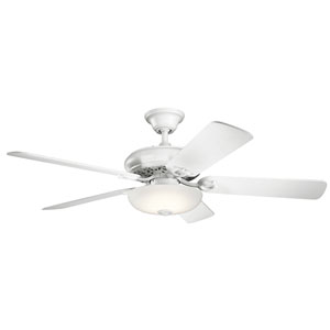 Bentzen Matte White 52-Inch LED Ceiling Fan