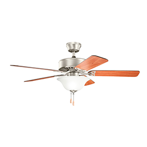 Renew Select ES Brushed Nickel Two Light Ceiling Fan