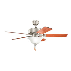 Renew Select Brushed Nickel Three Light Ceiling Fan