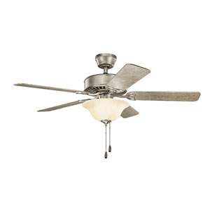 Renew Select Sterling Gold Ceiling Fan with Light Kit