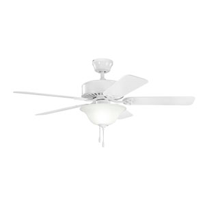 Renew Select White Three Light Ceiling Fan