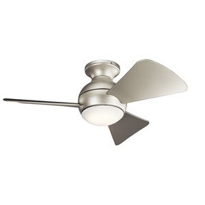 Sola Brushed Nickel 34-Inch Wet Location LED Ceiling Fan