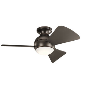 Sola Olde Bronze 34-Inch Wet Location LED Ceiling Fan