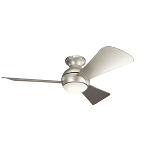 Sola Brushed Nickel 44-Inch Wet Location LED Ceiling Fan