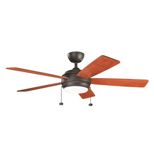 Starkk Olde Bronze 52-Inch LED Ceiling Fan with Light Kit