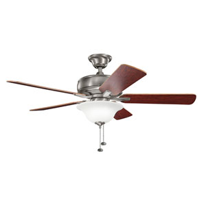 Terra Select Burnished Antique Pewter 52-Inch Ceiling Fan with Light Kit