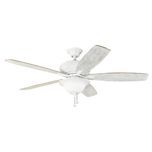 Terra Select Matte White 60-Inch Ceiling Fan with Light Kit