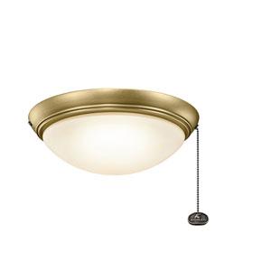 Natural Brass LED Fan Light Kit