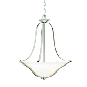 Langford Brushed Nickel Bowl Pendant