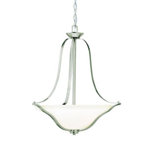 Langford Brushed Nickel 22-Inch Three-Light Energy Star Pendant