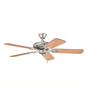 Sutter Place Antique Pewter 52-Inch Ceiling Fan with Reversible Cherry Blades