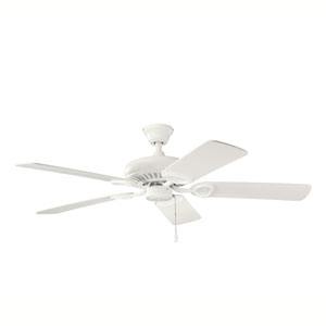 Sutter Place 52-Inch Satin Natural White Ceiling Fan
