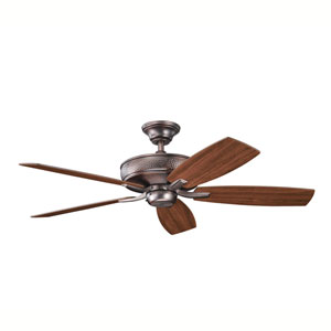 Monarch II Oil Brushed Bronze 52-Inch Energy Star Ceiling Fan with Reversible Walnut/Cherry Blades