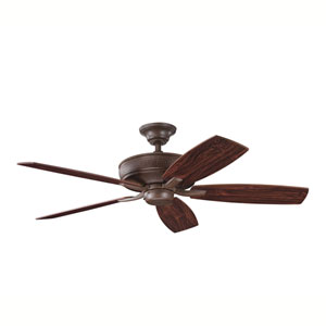 Monarch II Tannery Bronze 52-Inch Energy Star Ceiling Fan with Reversible Teak/Cherry Blades
