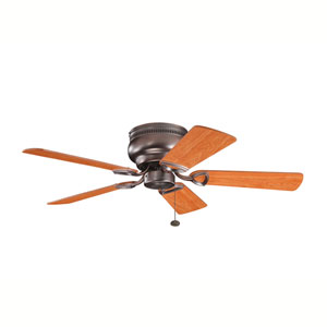 Stratmoor Oil Brushed Bronze 42-Inch Ceiling Fan with Reversible Walnut/Cherry Blades