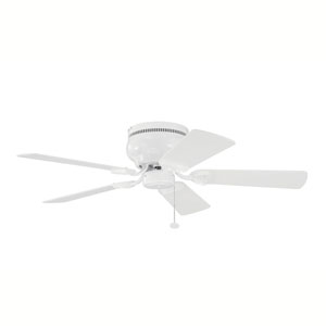 Stratmoor White 42-Inch Ceiling Fan with White Blades