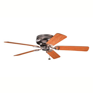 Stratmoor Oil Brushed Bronze 52-Inch Ceiling Fan with Reversible Walnut/Cherry Blades