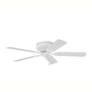 Stratmoor White 52-Inch Ceiling Fan with White Blades
