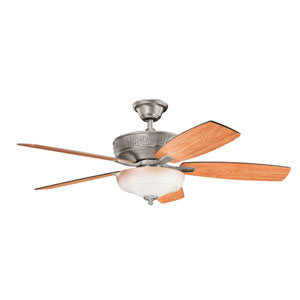 Monarch Burnished Antique Pewter Three Light Ceiling Fan