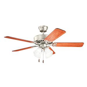 Renew Premier Brushed Nickel Four Light Ceiling Fan