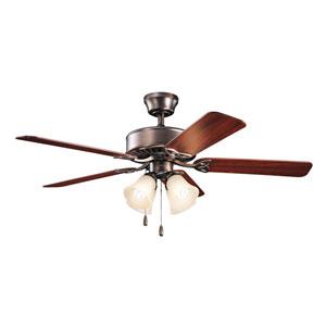 Renew Premier Oil Brushed Bronze 50-Inch Four Light Ceiling Fan