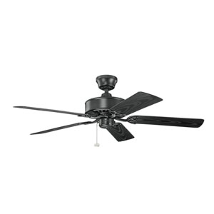 Renew Patio Satin Black Indoor and Outdoor Ceiling Fan