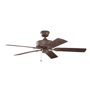 Renew Patio Tannery Bronze Powder Coat Indoor and Outdoor Ceiling Fan