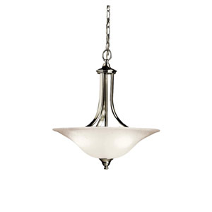 Dover Brushed Nickel Bowl Pendant